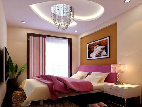 婚房卧室吊顶装修 婚房吊顶效果图